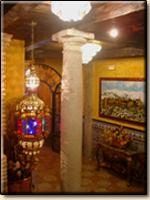 Interior of Hostal Lima, Granada.