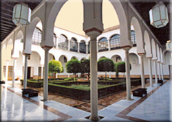 Interior courtyard of the Andalusian Parliament.