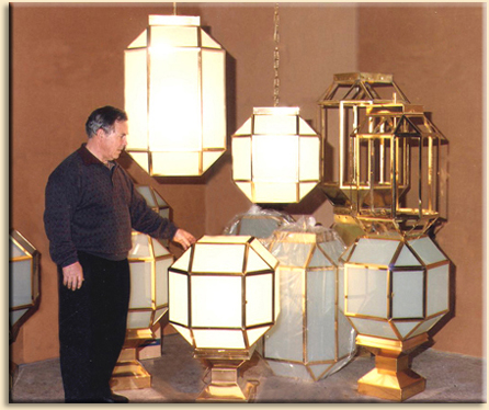 Variety of lamps for the Andalusian Parliament.